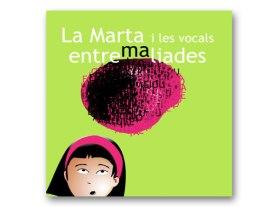 Portada conte 'La Marta i les vocals entremaliades' http://wp.me/p4SrjM-5J