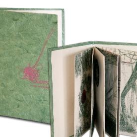 Llibret artista, enquadernació artesanal