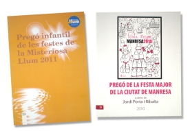 Disseny i maquetació llibret pregons Festa Major Manresa